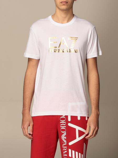 T-shirt Ea7 con logo laminato