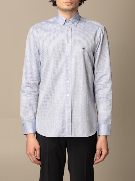 Etro shirt in micro patterned poplin