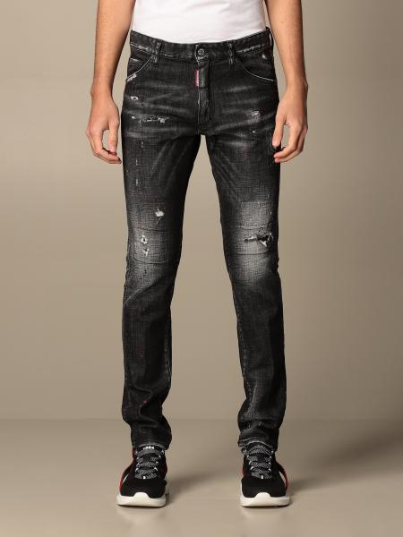 Dsquared2 jeans in used denim with tears
