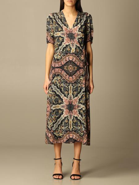 Etro women: Etro midi dress in patterned viscose