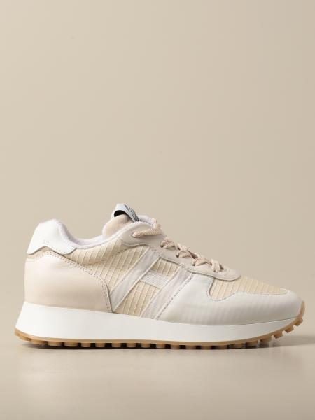 Hogan women: Hogan sneakers in leather and canvas