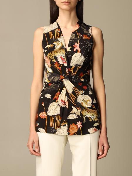 Etro women: Etro top in patterned viscose