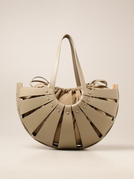 Bottega Veneta women: Bottega Veneta Shell bag in cut out leather
