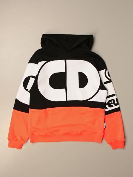 Gcds hooded sweatshirt in cotton with logo