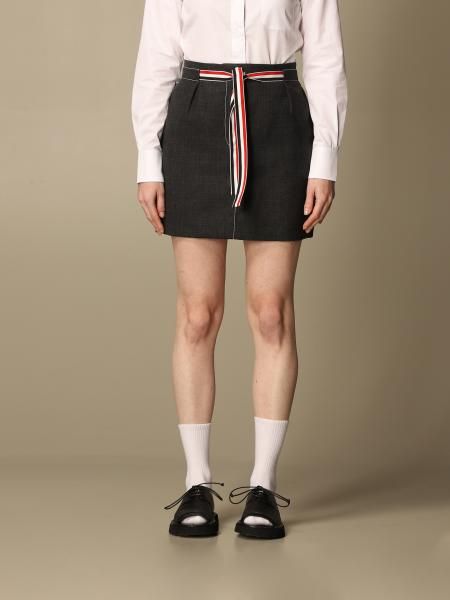 Thom Browne: Gonna a pieghe Thom Browne in lana