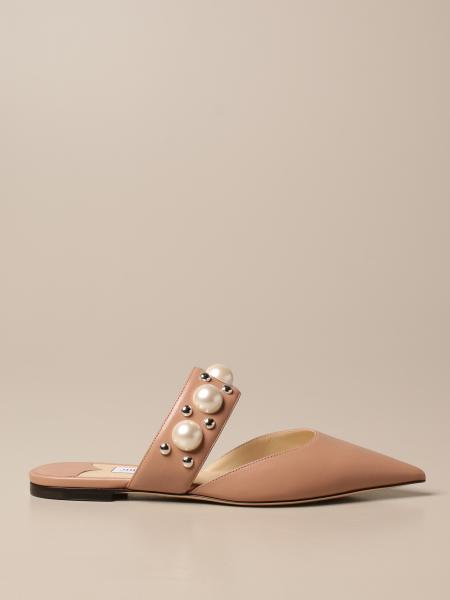 Jimmy Choo: Jimmy Choo mule mules in leather with pearls