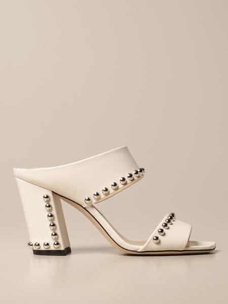 Jimmy Choo: Matty Jimmy Choo sandal in leather with studs
