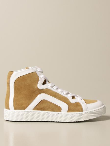 Sneakers alta Pierre Hardy in pelle e camoscio
