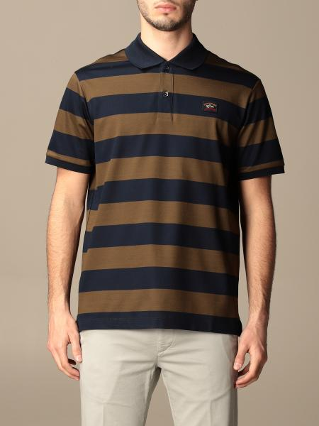 Paul & Shark: Paul & Shark polo shirt in cotton with two-tone bands