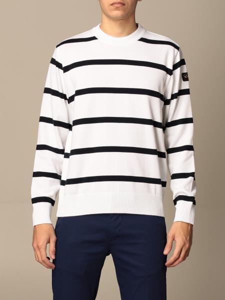 Paul & Shark: Paul & Shark striped crew neck sweater