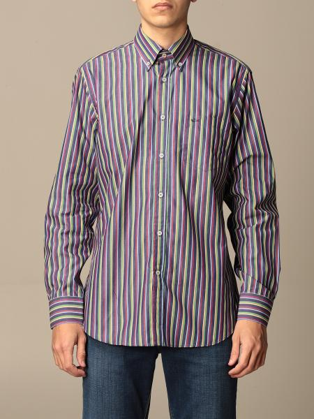 Paul & Shark: Paul & Shark striped cotton shirt with button down collar