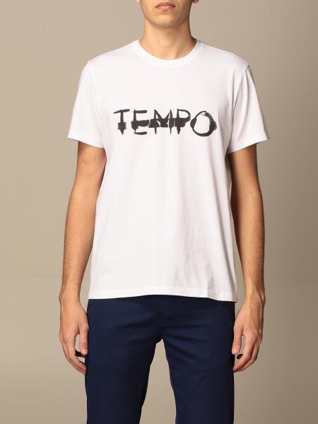 T-shirt Aspesi in cotone con stampa tempo