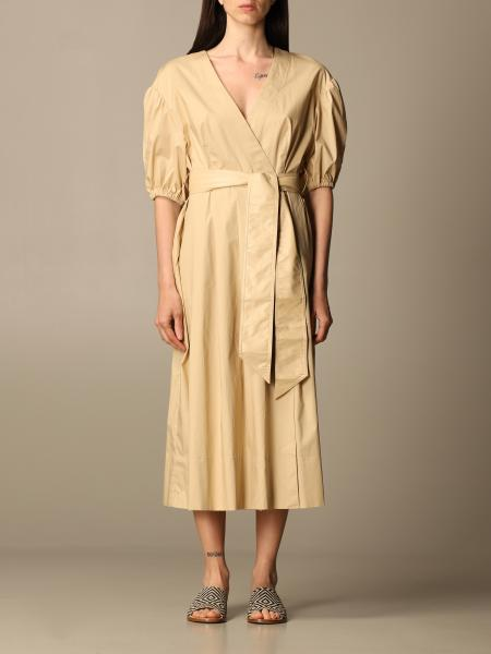 Twinset women: Twin-set midi dress in cotton