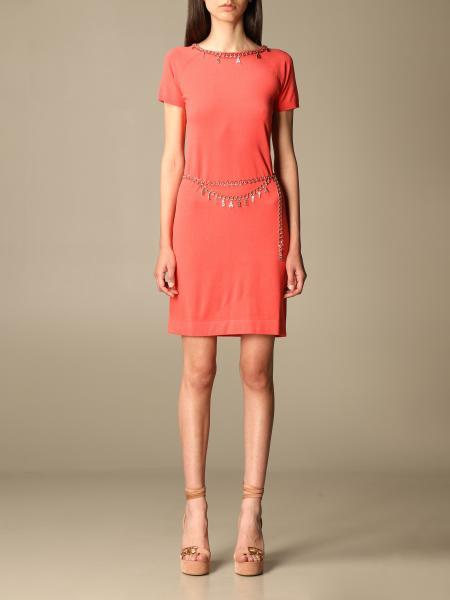 Elisabetta Franchi short dress with metal chain