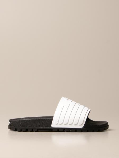 Emporio Armani: Sandalo slide Emporio Armani in gomma