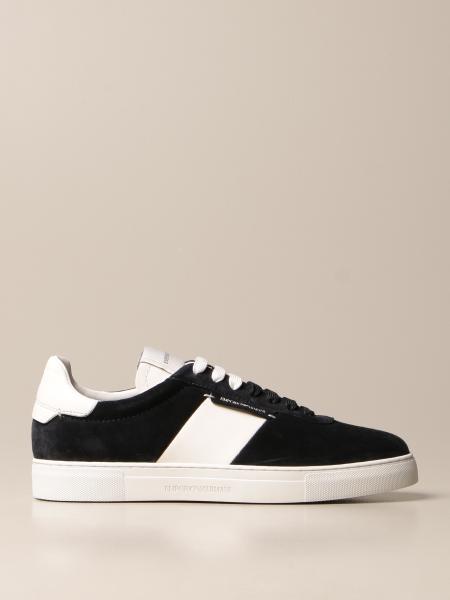 Emporio Armani: Sneakers Emporio Armani in camoscio e pelle