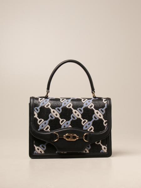 Elisabetta Franchi women: Elisabetta Franchi bag in jacquard raffia