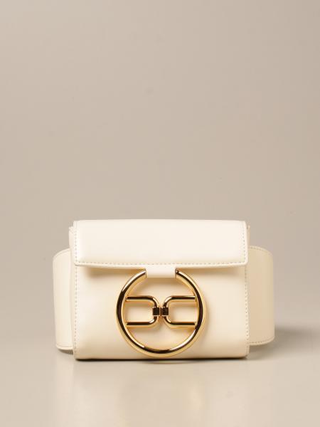 Elisabetta Franchi women: Elisabetta Franchi belt bag in synthetic leather with logo