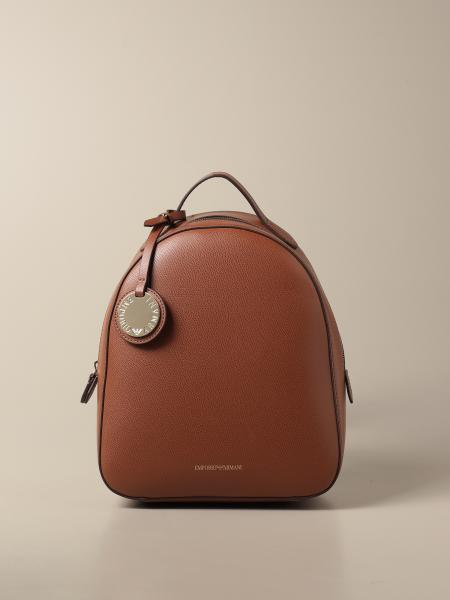 Emporio Armani backpack in grained synthetic leather