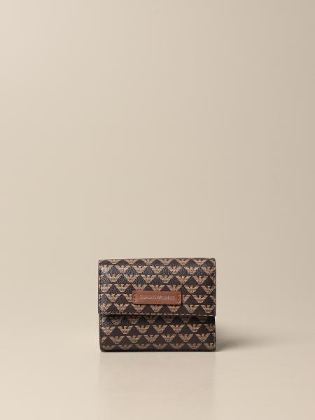 Portafoglio Emporio Armani in pelle sintetica con stampa logo