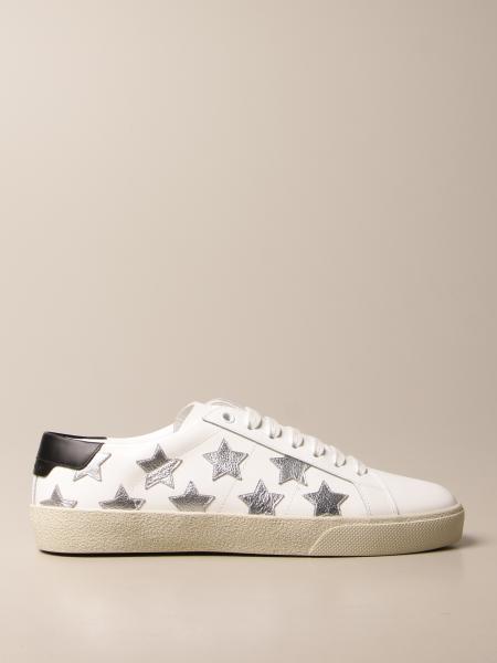 Saint Laurent: Sneakers Saint Laurent in pelle con stelle laminate