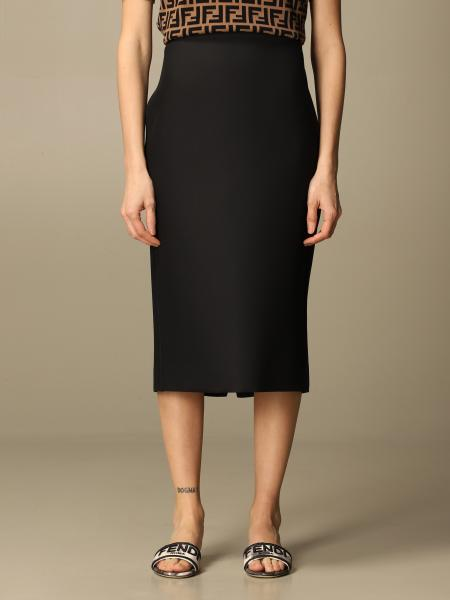 Fendi women: Fendi pencil skirt with back buttons