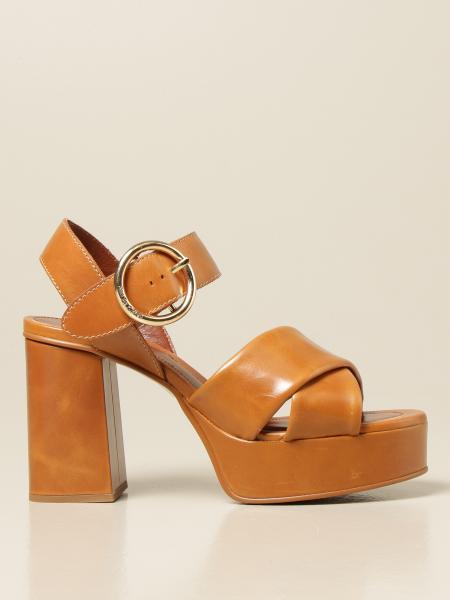 See By Chloé: Sandalo alto See By Chloé in pelle