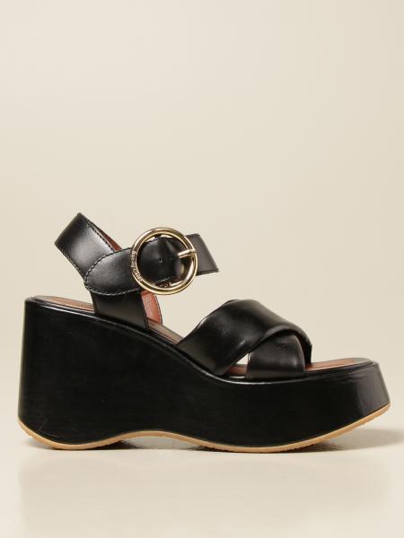 See By Chloé: Sandalo con zeppa See By Chloé in pelle