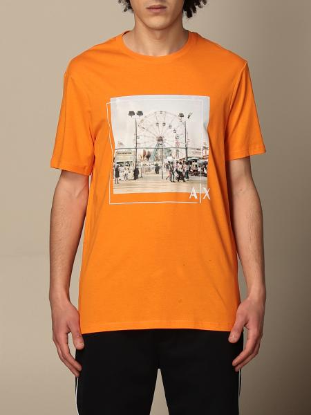 T-shirt Armani Exchange con stampa frontale