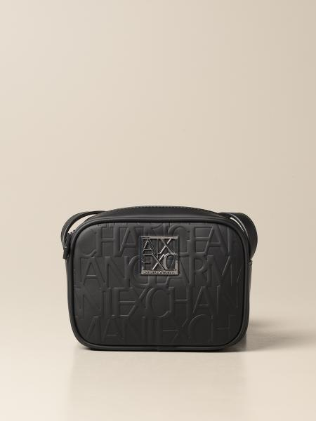 Armani Exchange shoulder bag in synthetic leather with embossed logo