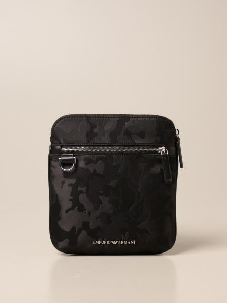 Emporio Armani shoulder bag in camouflage nylon