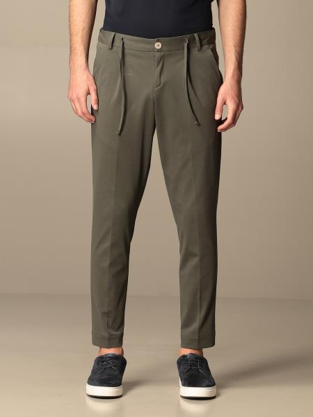 Alessandro Dell'acqua men: Alessandro Dell'acqua basic trousers in cotton