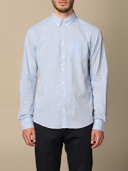 Sun 68 basic shirt with button down collar