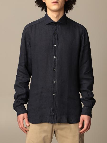 Fay men: Fay linen shirt with logo