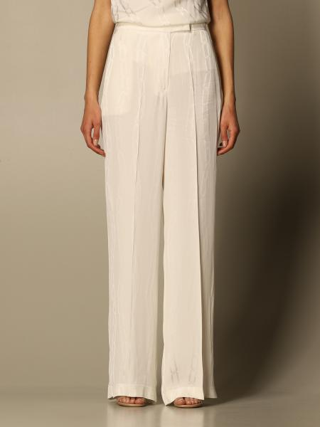 Pantalone ampio Simona Corsellini con dettagli a contrasto