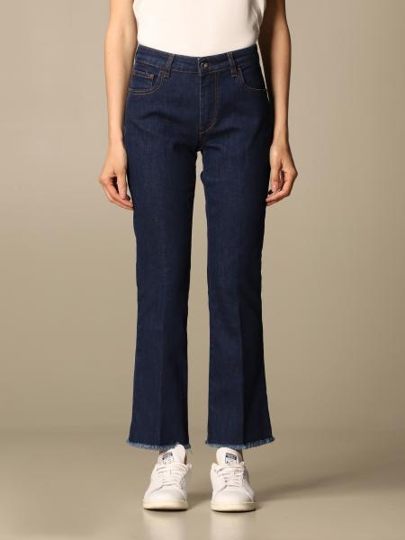 Fay women: Fay jeans in cropped denim