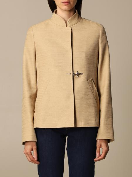 Fay women: Fay single-breasted jacket with frog