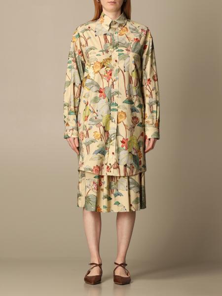 Etro women: Etro shirt in printed poplin
