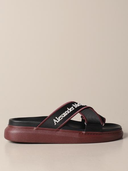 Alexander Mcqueen: Sandalo Alexander McQueen in tela con logo