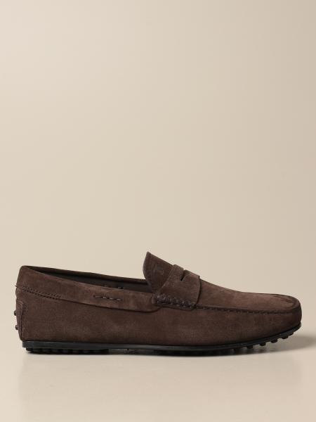 Tod's moccasin in suede with sleeper
