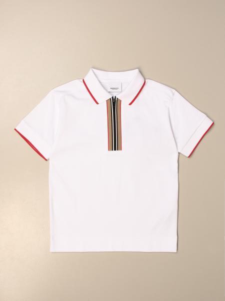 Burberry 条纹门襟棉质polo衫