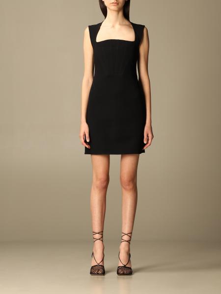 Bottega Veneta women: Bottega Veneta short viscose dress