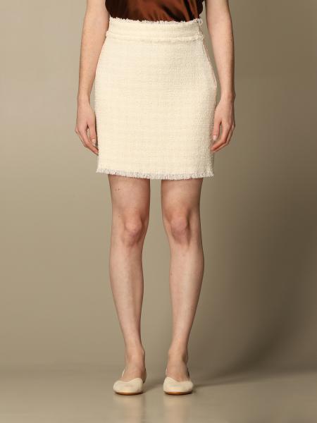 Pinko mini skirt in bouclé fabric