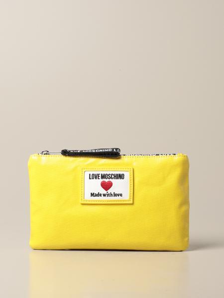 Borsa Love Moschino in canvas spalmato