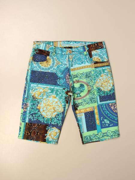 Pantaloncino a 5 tasche Versace Young patchwork