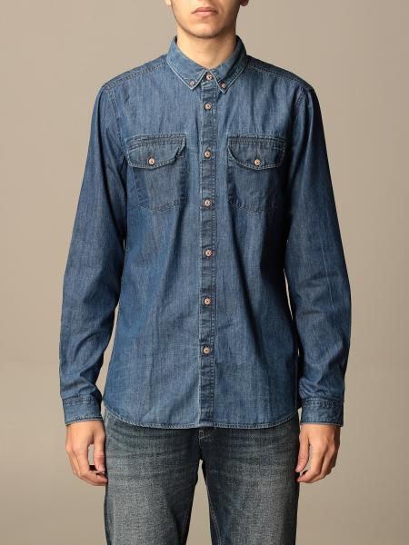 Barbour men: Barbour shirt in cotton denim
