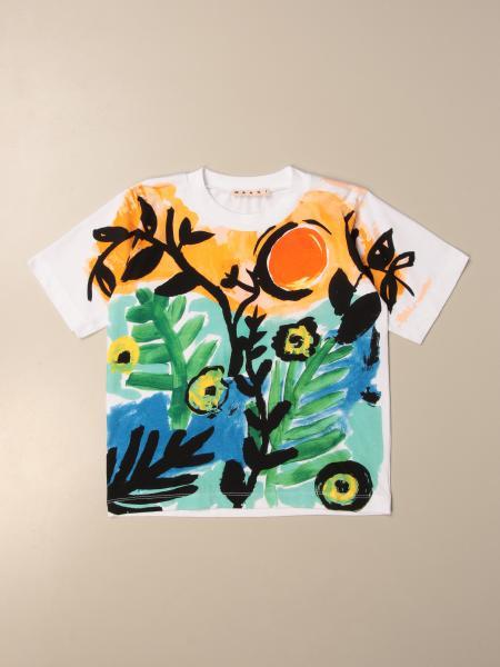 Marni: Marni cotton T-shirt with big print