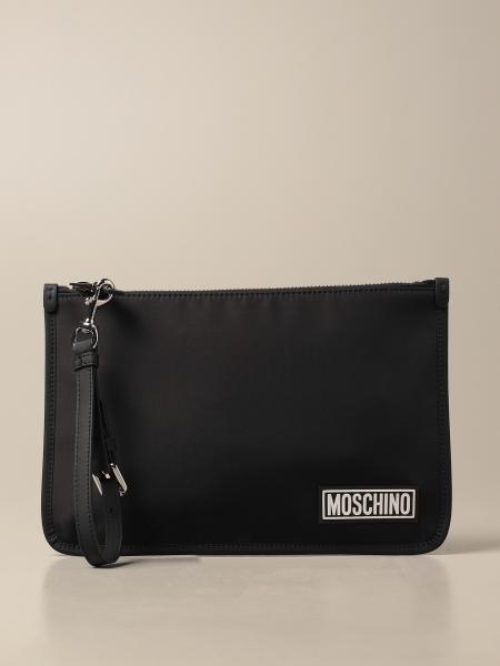 Moschino Couture nylon clutch