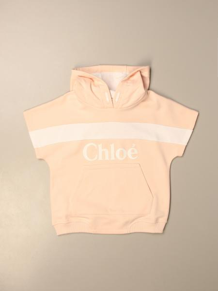 Chloé: Chloé hooded sweatshirt in cotton with logo
