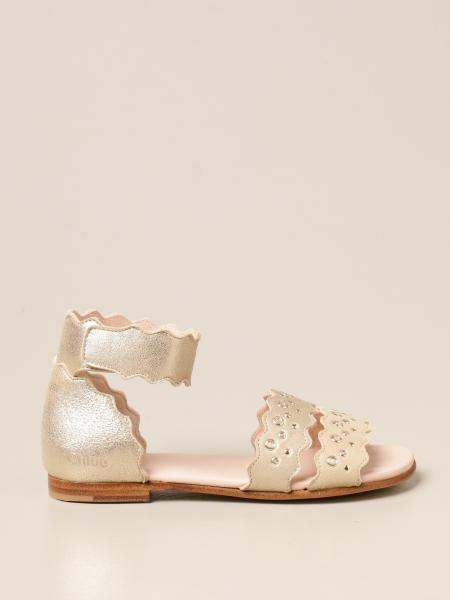 Chloé: Chloé sandals in lurex suede with sails